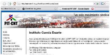 Sitio del PIT CNT en la red